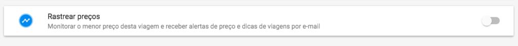 Google Flights alerta de preço