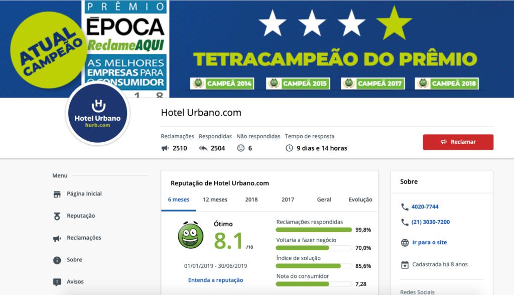 Hotel Urbano Reclame Aqui