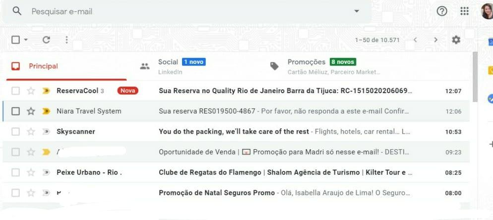 Reserva Cool confirmação de e-mail