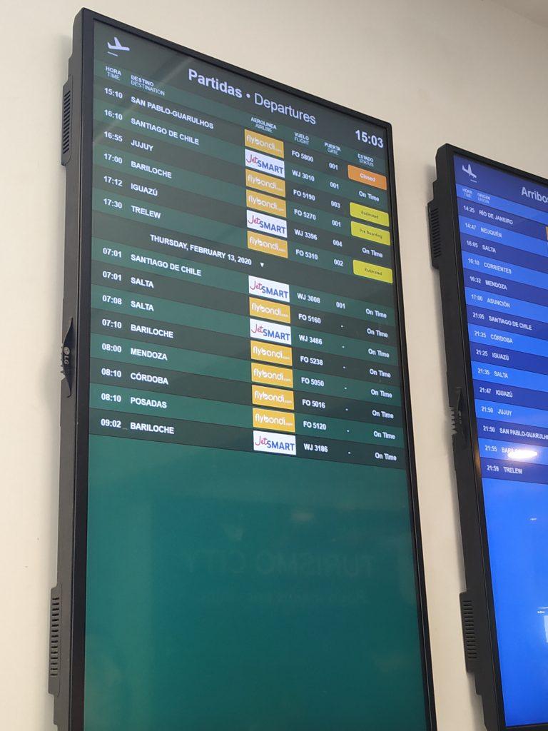 Voos do aeroporto de el palomar