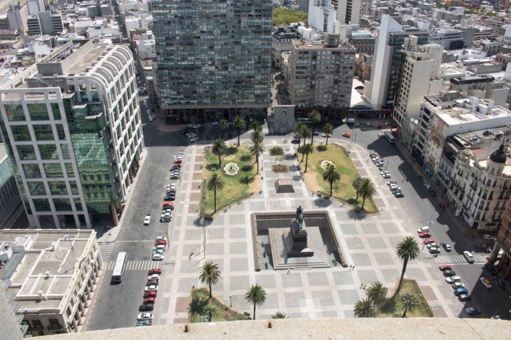 Praça da independência em Montevideo