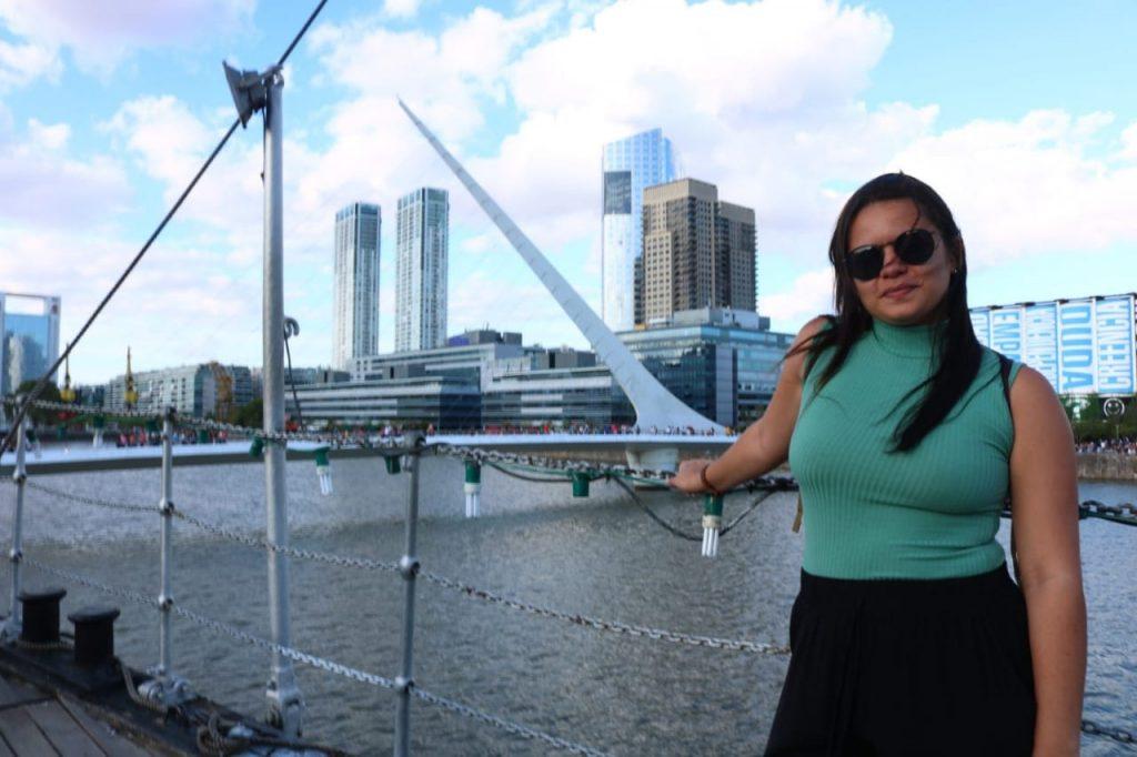 Puente de La Mujer em Puerto Madero