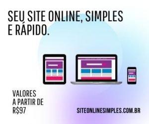 Seu site online, simples e rápido