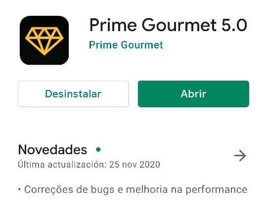 Aplicativo Prime Gourmet 5.0