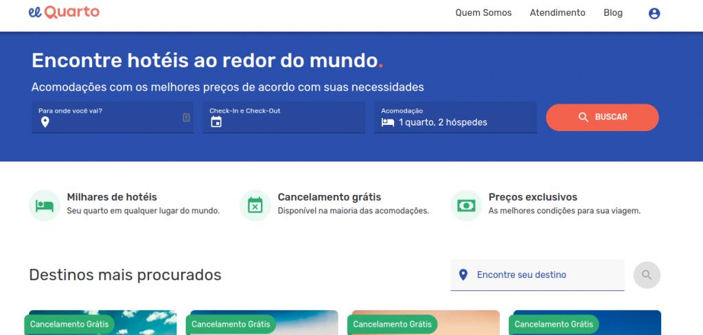 Página da plataforma online El Quarto