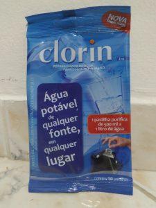 pastilha para água potável